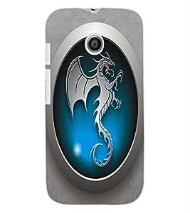 ColourCraft Dragon Art Design Back Case Cover for MOTOROLA MOTO E