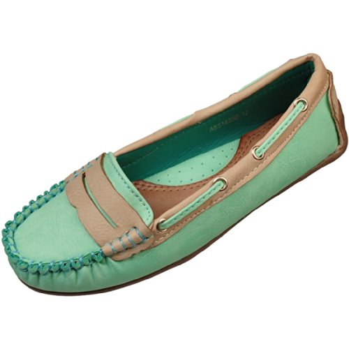 Air Balance Girls Light Green Fashion Moccasins