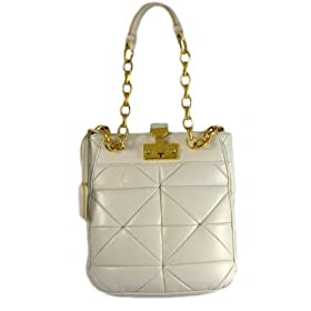 Marc Jacobs Handbags (White/Coconut) Leather Patchwork Shoulder Bag