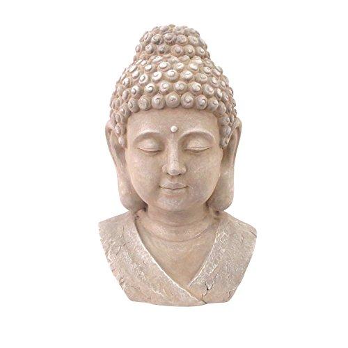 mark-and-co-busto-de-buddha-de-magnesia-28-x-22-cm-color-gris-claro