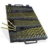 Neiko 115-Piece Titanium Nitrate Coated Drill Bit Set