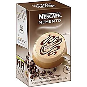 Nescafe, Memento Coffee, Instant Cappuccino, 8 Count, 6.2oz Box (Pack of 3)