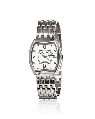Bertha Women's BR3101 Charlotte Silver/White Stainless Steel Watch