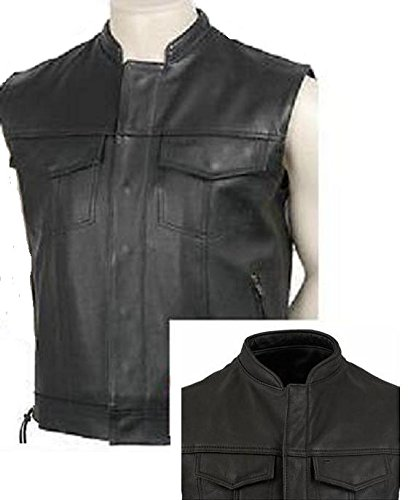 GILET CUIR SONS OFF ANARCHY AVEC LACETS TAILLE L