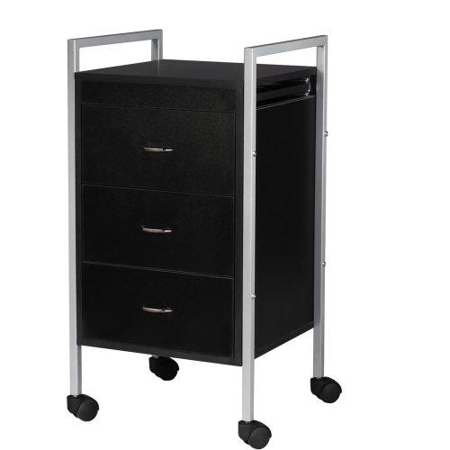 3 drawer trolley cart with wheels salon spa