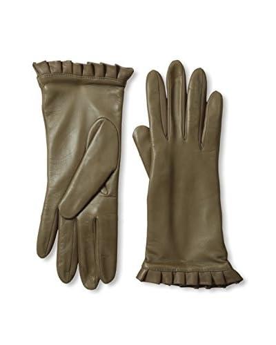 Portolano Women's Ruffle Cuff Leather Gloves