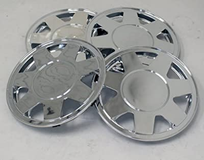 TuningPros WSC-928C15 Chrome Hubcaps Wheel Skin Cover 15-Inches Silver Set of 4