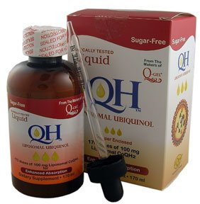 Sugar-Free Liquid QH Liposomal Ubiquinol (Ultimate Absorption) (170ml bottle 100mg Pure CoQ10 per 1ml)