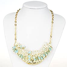 buy Btime New Dazzle Colour Crystal Female Luxury Clavicle Short Chain Exaggerated Fashion Necklace(Blue)