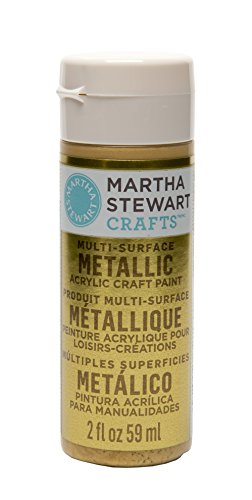 Martha Stewart Crafts Multi-Surface Metallic Acrylic Craft Paint in Assorted Colors (2-Ounce), 32105 Yellow Gold (Yellow Gold Paint compare prices)