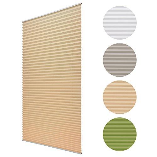 sol royal plissee soldecor p25 80x220 cm beige creme klemm fix ohne bohren plissee. Black Bedroom Furniture Sets. Home Design Ideas