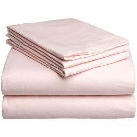 Pike Street Solid 135-Gram Flannel Sheet Sets