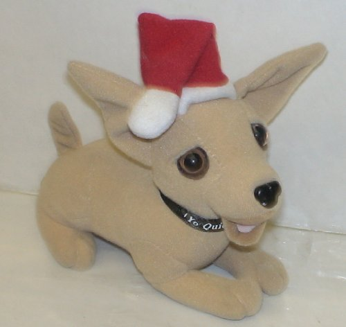 "Taco Bell Promotional Christmas Chihuahua 6"" Plush Doll - 1"