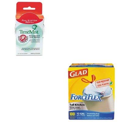 KITCOX70427WTB304601TMCT - Value Kit - Timemist Fragrance Cup Refill (WTB304601TMCT) and Glad ForceFlex Tall-Kitchen Drawstring Bags (COX70427)