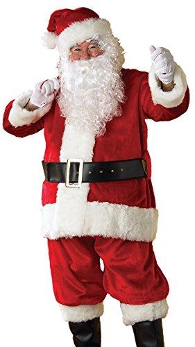 Rubie's Deluxe Crimson Regency Santa Suit, Red/White, X-Large