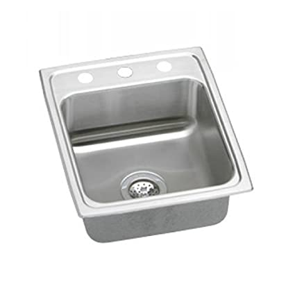Elkao|#Elkay LR1522X-CU 18 Gauge Cuverro Antimicrobial copper 15 Inch x 22 Inch x 7.625 Inch single Bowl Top Mount Sink,