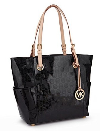 Michael Kors Jet Set Tote - Mirror Metallic Nickel