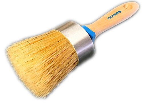 Chalk Paint and Wax Brush by Dover's, LARGE Rounded Oval, the Natural Boar Hair Bristles Hold Maximum Paint for Maximum Coverage and Minimal Brush Marks. A Great Brush for Large Furniture Surfaces. (Kitchen Cabinet Paint Cream compare prices)