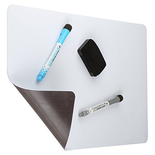 Cinch! Magnetic Dry Erase White Board For Kitchen Fridge with Stain Resistant Technology 17x11