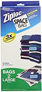 Ziploc Space Bag BRS-8330ZG Vacuum-Seal Storage Bags, Large, Set of 2