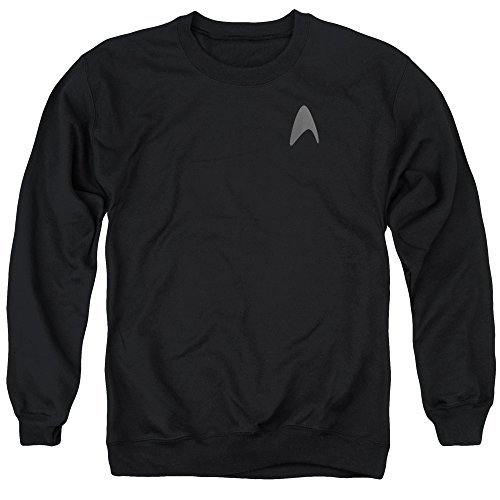 [Star Trek Darkness Capt Kirk Command Logo Uniform Costume Adult Crew Sweatshirt] (Leonard Mccoy Costume)