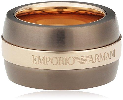 Emporio Armani - Anello in acciaio inossidabile donna, 10