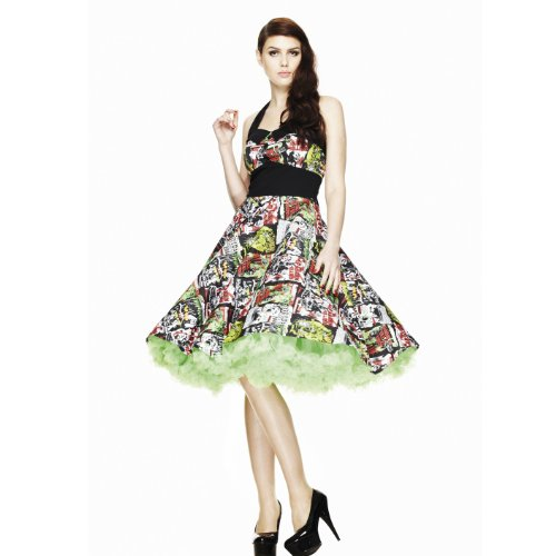 Hell Bunny B-MOVIE 50'S DRESS 4141 black-multi XL