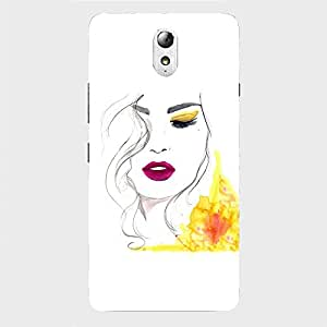 Back cover for Lenovo Vibe P1 Beautiful Shy Girl Sketch