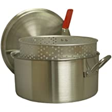 King Kooker KK14 14-Quart Aluminum Fry Pan With Punched Aluminum Basket