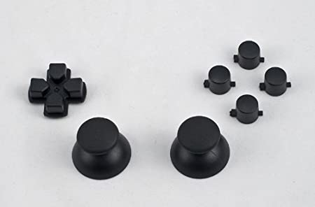 Black buttons, D-pad, Thumbstick set for Playstation 3 controller (Square, Triangle, X, Circle) Custom mod (PS3)