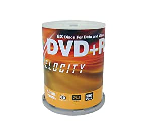 Velocity 8X 4.7 GB DVD+R (100-Pack Spindle) (Discontinued by Manufacturer)