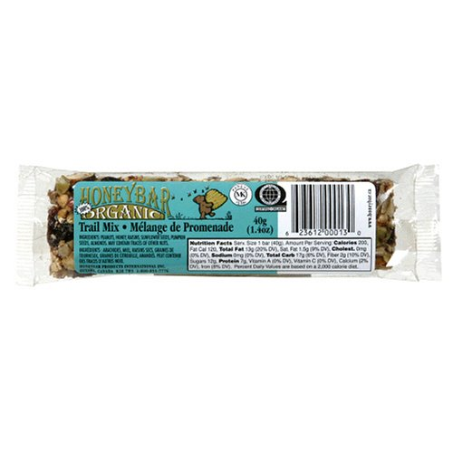 Buy HoneyBar, 100% Organic, Trail Mix, 1.4-Ounce Bars (Pack of 12) (HoneyBar, Health & Personal Care, Products, Food & Snacks, Breakfast Foods)
