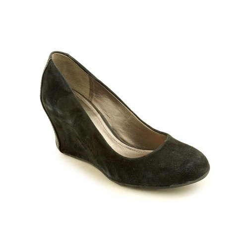 Kenneth Cole Reaction Did U Tell Black Suede Wedge Heel Women Size 8 M front-863094