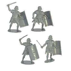 Amazon.com: Roman Infantry Plastic Army Men: 16 piece set of 54mm Gray