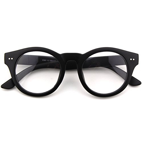 glasses-queen-201585-fashion-round-horn-rimmed-riveted-clear-lens-eye-glassesmatte-black-by-glasses-