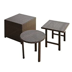 BEST Palmilla Wicker Table Set, Multibrown from Best
