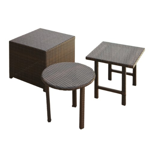 Best Selling Palmilla Wicker Table Set, Multibrown photo