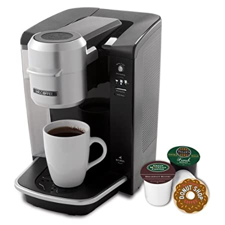 Brew your favorite beverage, one cup at a time--in under a minute*. view larger     Uses Keurig Brewed K-Cup packs--choose from 250+ coffee, tea, and hot cocoa varieties. view larger     User-friendly push-button control panel. view larger     Re...