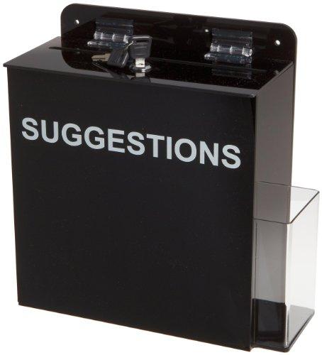 Brady Acrylic Suggestion Box Black General General