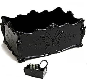 Amazon.com: Anna Sui Style Queen Beauty Tray Korean Vintage Butterfly Pattern Jewelry Cosmetic Make-up Tools Organizer Tray Box.: Beauty