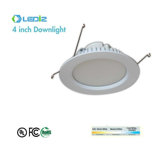 Ledi2 Recessed Kit 4 '' Led Downlight 9W 2700K (Warm White),Dimmable 50,000 Hours Life R4-9W-27
