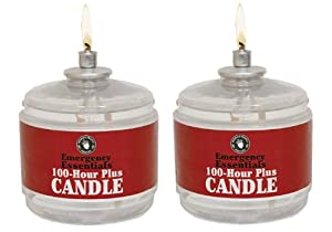 100 Hour Plus Emergency Candle, Clear Mist - Set of 2 Survival Candles