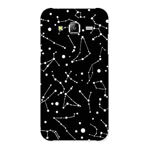 Constellation Black Back Case Cover for Samsung Galaxy J5