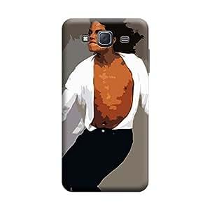 BUZZWORLD Samsung J7 2016 Colorful Micheal 3D Printed Mobile Back Case Cover (Matte) (White)