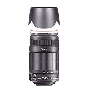 Neewer® Lens Hood for Canon EF 75-300mm f/4.0-5.6 USM, II, II USM, III, III USM Lenses, Canon EF-S 55-250mm F/4-5.6 IS Lens, Replacement for ET-60 II