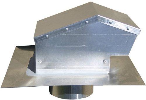 Speedi-Products EX-RCAC 04 4-Inch Diameter Aluminum Roof Cap with Collar
