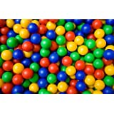 300x Childrens Plastic Play Balls for Ball Pits Pool Bouncy Castle Multicoloured Toys