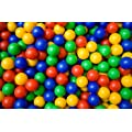 200x Childrens Plastic Play Balls for Ball Pits Pool Bouncy Castle Multicoloured Toys