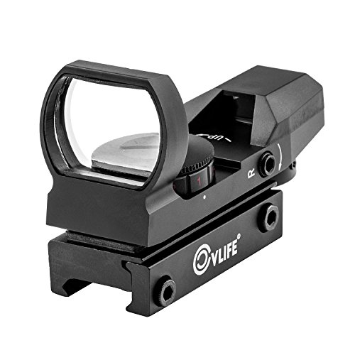 CVLIFE 1X22X33 Red Green Dot Laser Sight Scope Reflex Sight with 20mm Rail (Laser Red Green compare prices)
