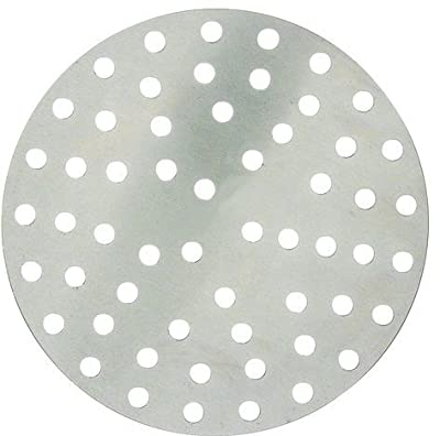 Winco APZP-8P, 8-Inch Aluminum Perforated Pizza Disk with 57 Holes, Pizza Screen